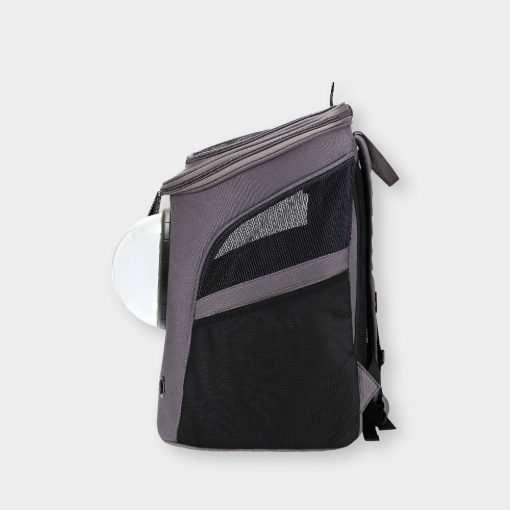 Vue de côté du sac à dos pour chat Tundra