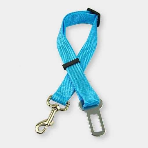 adjustable cat seat belt tethe blue